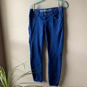 Express • Blue slim fit jean legging